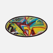 Colors vibrant graffiti art Patches