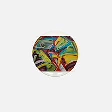 Colors vibrant graffiti art Mini Button