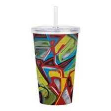 Colors vibrant graffit Acrylic Double-wall Tumbler