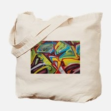 Colors vibrant graffiti art Tote Bag