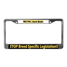 Bl & yellow STOP BSL License Plate Frame