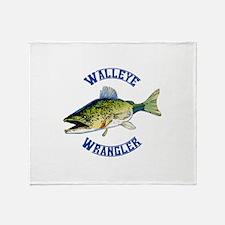 WALLEYE WRANGLER Throw Blanket
