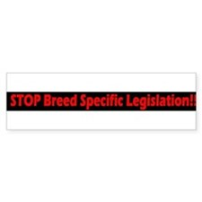 bl & red Stop BSL Bumper Bumper Sticker