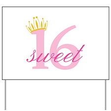 Sweet Sixteen Yard Sign