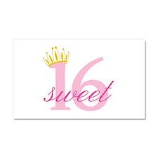 Sweet Sixteen Car Magnet 20 x 12