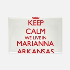 Keep calm we live in Marianna Arkansas Magnets