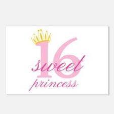 Sweet Sixteen Princess Postcards (Package of 8)