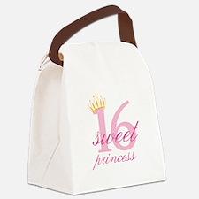 Sweet Sixteen Princess Canvas Lunch Bag