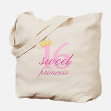 Sweet Sixteen Princess Tote Bag
