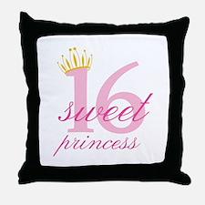Sweet Sixteen Princess Throw Pillow