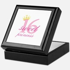 Sweet Sixteen Princess Keepsake Box