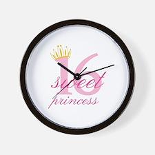 Sweet Sixteen Princess Wall Clock