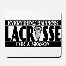 Lacrosse Season Mousepad