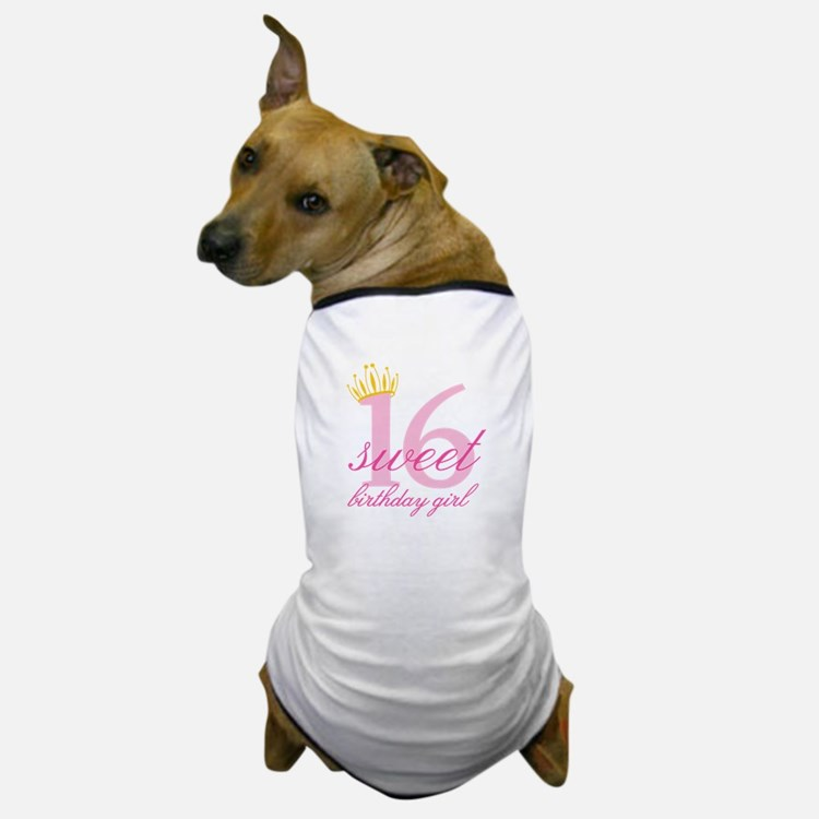 Teen Birthday Girl Dog T-Shirt