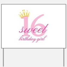 Teen Birthday Girl Yard Sign