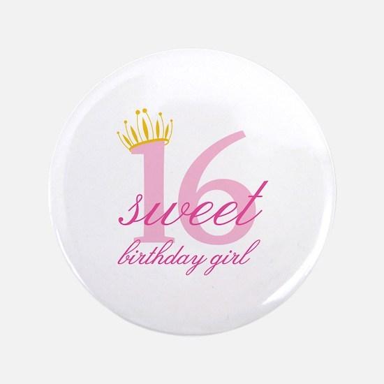 "Teen Birthday Girl 3.5"" Button"