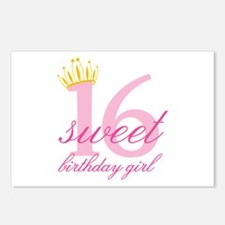 Teen Birthday Girl Postcards (Package of 8)