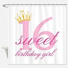 Teen Birthday Girl Shower Curtain