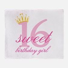 Teen Birthday Girl Throw Blanket