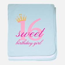 Teen Birthday Girl baby blanket