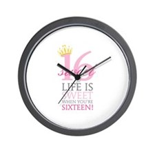 Sweet Sixteen Wall Clock
