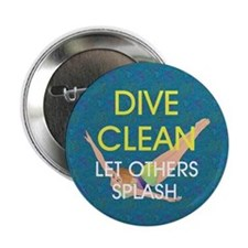 "Dive Clean 2.25"" Button"