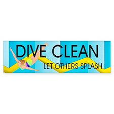 Dive Clean Bumper Sticker