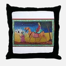 journey through desert Throw Pillow