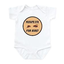 Private Eye For Hire Flesh Infant Bodysuit
