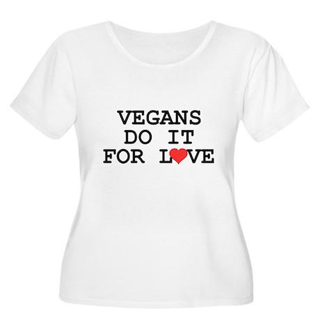 Vegans Do It For Love Women's Plus Size Scoop Neck