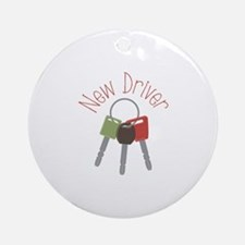 New Driver Ornament (Round)