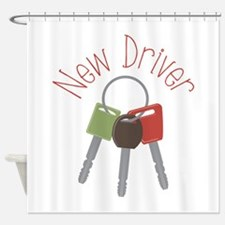 New Driver Shower Curtain