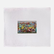 Color Graffiti Throw Blanket