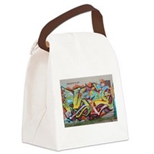 Color Graffiti Canvas Lunch Bag