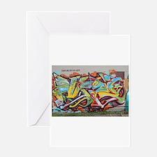 Color Graffiti Greeting Cards