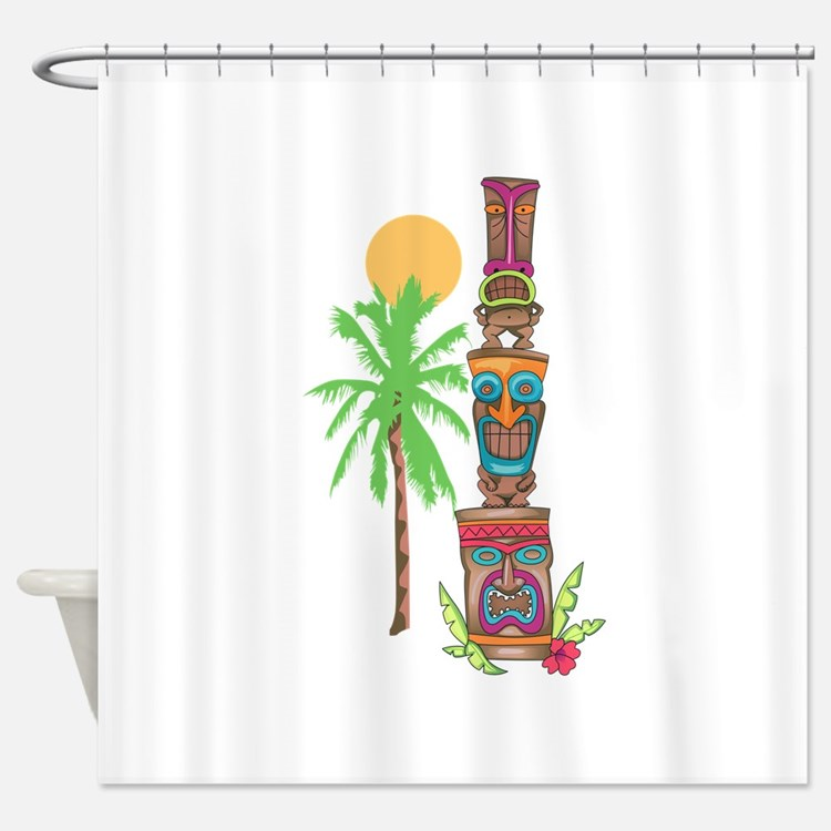 Tiki Shower Curtains