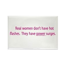 Real women don't have hot fla Rectangle Magnet