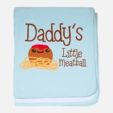 Daddy's Little Meatball baby blanket