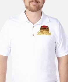Cute Meatball and Spaghetti Golf Shirt
