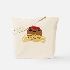 Cute Meatball and Spaghetti Tote Bag