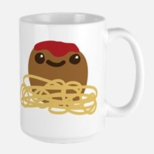 Cute Meatball and Spaghetti Mugs