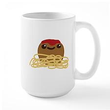 Cute Meatball and Spaghetti Mugs