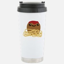 Cute Meatball and Spagh Stainless Steel Travel Mug