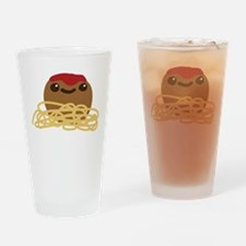 Cute Meatball and Spaghetti Drinking Glass