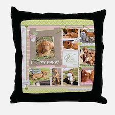 Cute Wirehaired vizsla Throw Pillow