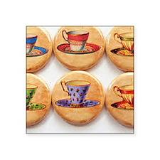 """Tea delight Square Sticker 3"""" x 3"""""""
