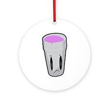 Purple Cup Ornament (Round)