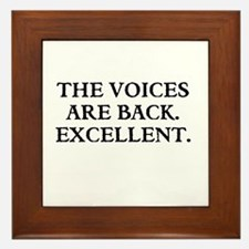 THE VOICES ARE BACK. EXCELLENT Framed Tile