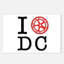 I Bike DC Postcards (Package of 8)