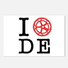 I Bike DE Postcards (Package of 8)